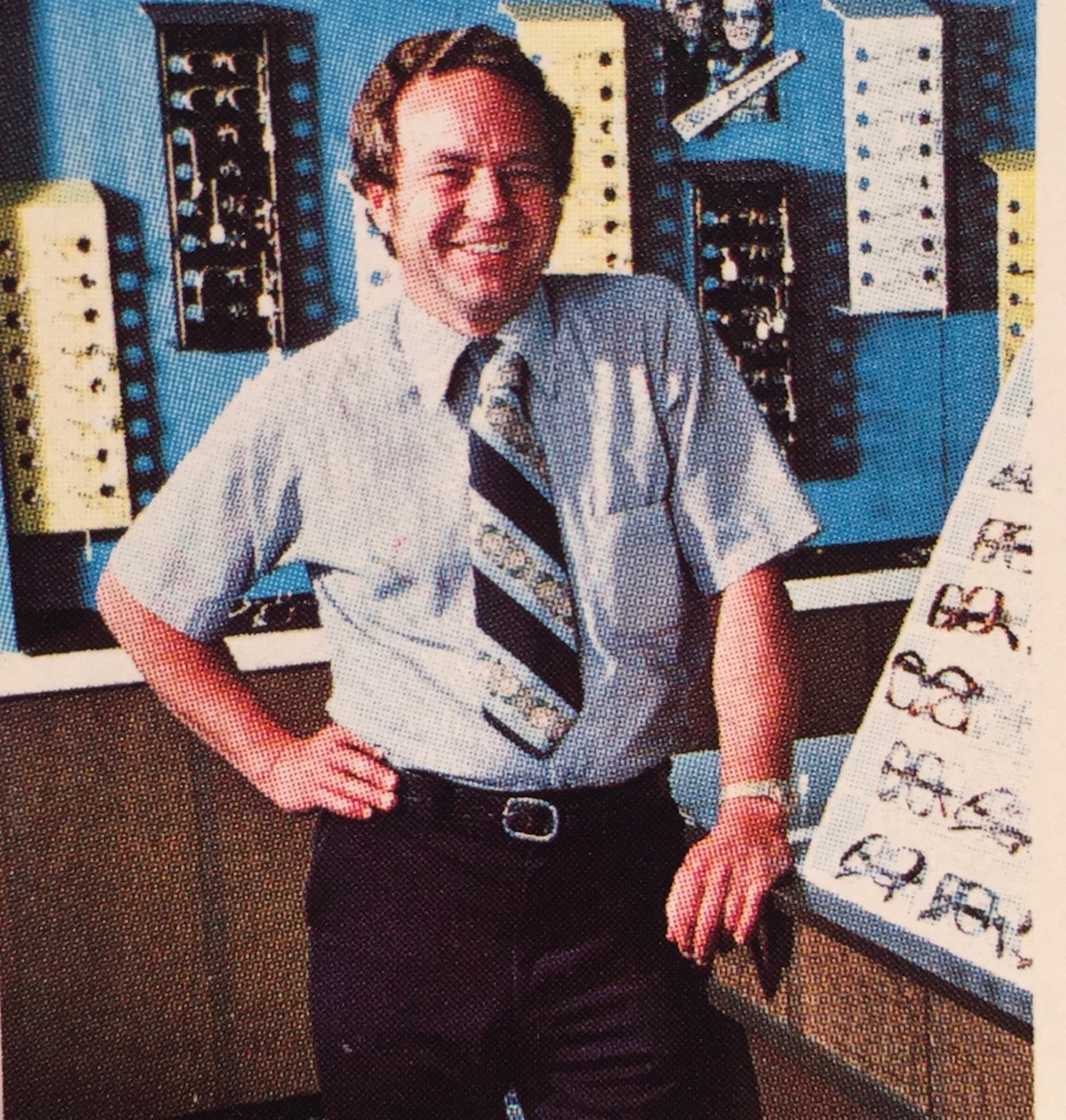 A photo of Ed Cunningham founder of Cunningham Optical One 1970's Era Downtown Fort Wayne, IN